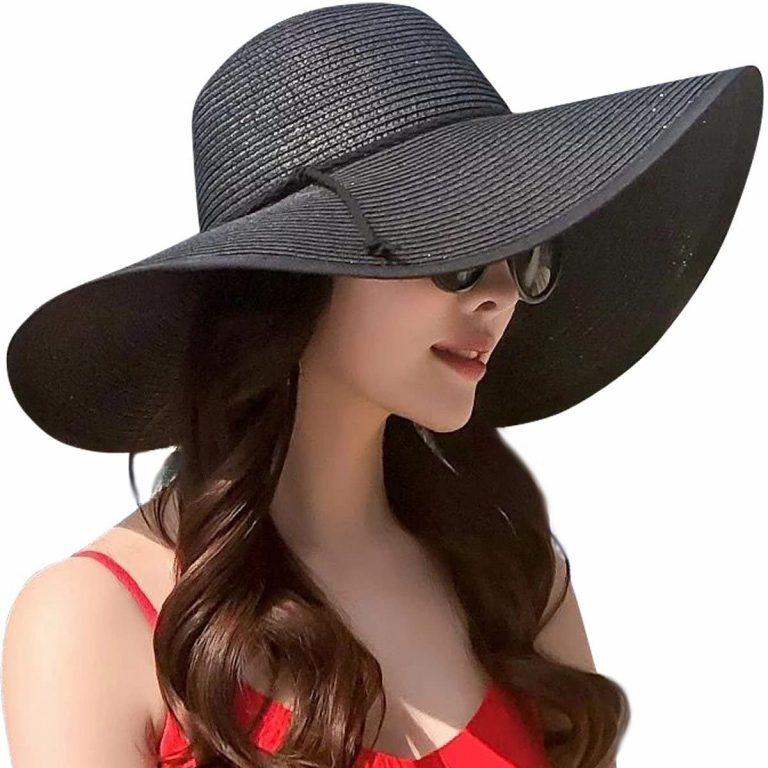 Black Floppy Beach Hat